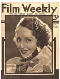 Jean Harlow on the cover of Film Weekly (United Kingdom) - June 1933