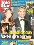 George Clooney, Sarah Larson on the cover of Tele Star (France) - October 2007