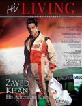 Zayed Khan on the cover of Hi Living (India) - October 2011