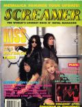 Bruce Kulick, Eric Singer, Gene Simmons, Paul Stanley on the cover of Screamer (United States) - October 1992