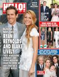 Blake Lively, Ryan Reynolds on the cover of Hello (Canada) - September 2012