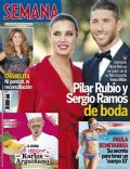 Pilar Rubio, Sergio Ramos on the cover of Semana (Spain) - July 2014