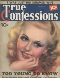 Ginger Rogers on the cover of True Confessions (United States) - August 1936