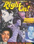 Michael Jackson on the cover of Right On (United States) - February 1983