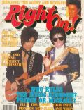 Michael Jackson on the cover of Right On (United States) - September 1984