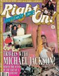 Michael Jackson on the cover of Right On (United States) - November 1988