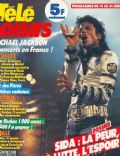 Michael Jackson on the cover of Tele Loisirs (France) - June 1988