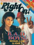 Michael Jackson on the cover of Right On (United States) - December 1987
