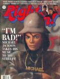 Michael Jackson on the cover of Right On (United States) - March 1987
