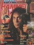 Ronnie James Dio on the cover of Metal Hammer (Germany) - August 1987