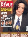 Michael Jackson on the cover of Neue Revue (Germany) - November 2003