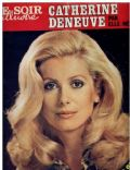 Catherine Deneuve on the cover of Le Soir Illustre (France) - March 1976