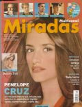 Dolores Trull, Penélope Cruz on the cover of Miradas (Argentina) - January 2004