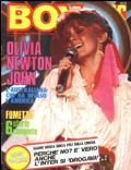 Olivia Newton-John on the cover of Boy Music (Italy) - December 1981
