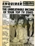 Chaz Bono, Cher, Sonny Bono on the cover of National Enquirer (United States) - September 1974