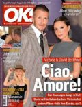 David Beckham, Victoria Beckham on the cover of Ok (Germany) - January 2009