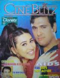 Govinda, Karisma Kapoor on the cover of Cineblitz (India) - July 1999