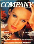 Jerry Hall on the cover of Company (United Kingdom) - November 1980