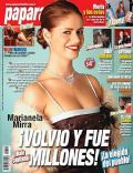Marianela Mirra on the cover of Paparazzi (Argentina) - May 2008