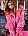 Hana Soukupova on the cover of Elle (Czech Republic) - January 2013