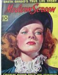 Katharine Hepburn on the cover of Modern Screen (United States) - January 1938