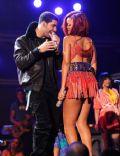 Aubrey Graham and Rihanna