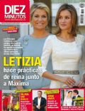 Princesa Letizia de Asturias, Princess Máxima of the Netherlands on the cover of Diez Minutos (Spain) - October 2013
