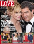 Antonio Banderas, Melanie Griffith on the cover of Love (Spain) - June 2014