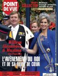 King Willem-Alexander, Princess Máxima of the Netherlands on the cover of Point De Vue (France) - May 2013
