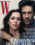 Jon Hamm, Rebecca Hall on the cover of W Magazine (United States) - August 2010