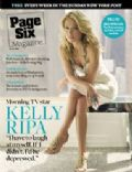 Kelly Ripa on the cover of Page Six (United States) - July 2008