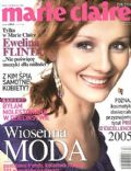 Ewelina Flinta on the cover of Marie Claire (Poland) - March 2005