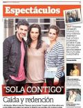 Leonardo Sbaraglia, Sabrina Garciarena on the cover of Clarin (Argentina) - December 2012