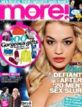 Rita Ora on the cover of More (United Kingdom) - December 2012