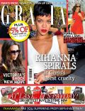 Rihanna on the cover of Grazia (United Kingdom) - October 2012
