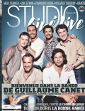 Benoit Magimel, François Cluzet, Gilles Lellouche, Guillaume Canet, Jean Dujardin, Laurent Lafitte on the cover of Studio Cine Live (France) - November 2010