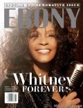 Whitney Houston on the cover of Ebony (United States) - April 2012