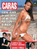 Karina Jelinek on the cover of Caras (Argentina) - August 2009