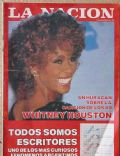 Whitney Houston on the cover of La Nacion (Argentina) - November 1987
