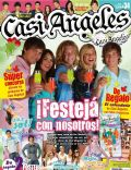 Gastón Dalmau, Juan Pedro Lanzani, Mariana Espósito, Nicolas Riera, Peter Lanzani and Mariana Esposito, Sito (footballer) on the cover of Casi Angeles (Argentina) - December 2009