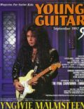 Yngwie Malmsteen on the cover of Young Guitar (Japan) - September 1997