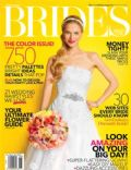 on the cover of Brides (United States) - July 2013