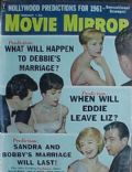 Debbie Reynolds on the cover of Movie Mirror (United States) - February 1961