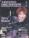 Terry Bozzio (II) on the cover of Modern Drummer (United States) - December 1984