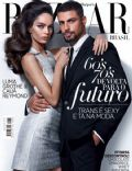 Cauã Reymond, Luma Grothe on the cover of Harpers Bazaar (Brazil) - August 2014