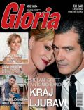 Antonio Banderas, Melanie Griffith on the cover of Gloria (Serbia) - June 2014