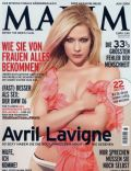 Avril Lavigne on the cover of Maxim (Germany) - June 2008
