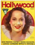 Merle Oberon on the cover of Hollywood (United States) - January 1937