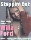 Willa Ford on the cover of Steppin Out (United States) - October 2001