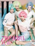 Hanne Gaby Odiele, Hyoni Kang, Maryna Linchuk on the cover of W (Korea North) - March 2012
